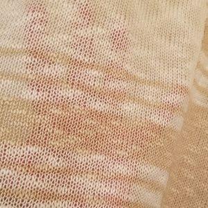 C.O.C. Tops - Ivory & Tan loose knit/sheer short sleeve top 1XL